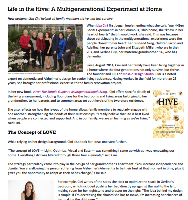 Life in the Hive: A Multigenerational Experiment at Home